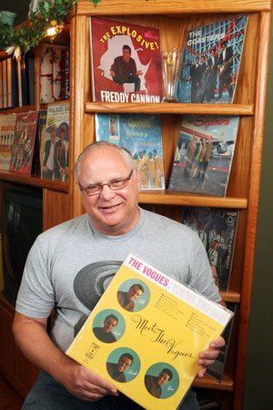 Mike Binko of Conway maintains a large collection of records from the 1950s through 1971. One of the many albums in his collection is The Vogues' debut album, Meet the Vogues. His other treasures include LPs from Elvis, The Beatles, Charlie Rich, Sam Cooke and more.