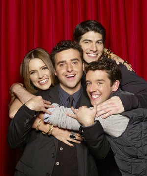 Partners, a new sitcom on CBS, debuts at 7:30 p.m. Monday and stars (from left) Sophia Bush, David Krumholtz, Brandon Routh and Michael Urie.