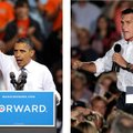 In these Sept. 26, 2012, file photos, President Barack Obama and Republican presidential candidate M...