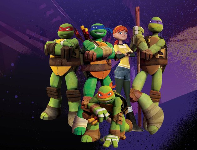 our-heroes-in-teenage-mutant-ninja-turtles-are-michelangelo-kneeling-and-standing-from-left-raphael-leonardo-april-and-donatello