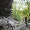 The 1,954-acre Devil's Eyebrow property includes impressive bluff shelters, creeks, springs and glad...