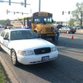 The scene of a school bus accident in Bentonville on Oct. 4.
