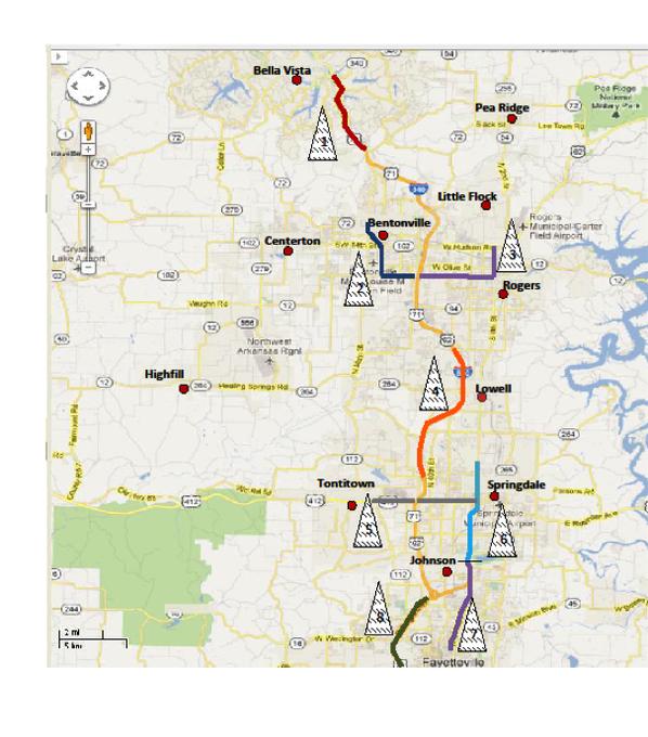 Similiar Map Of NW Arkansas Keywords