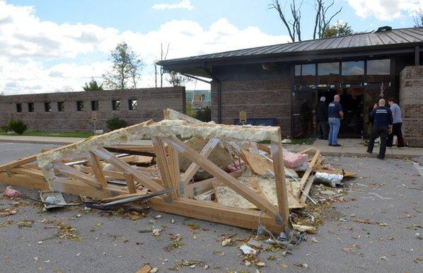 Tornado Strikes Rogers Nwadg
