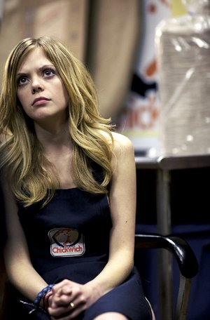 Becky (Dreama Walker) is unjustly accused and detained in Craig Zobel's button-pushing drama Compliance, which is based on an actual incident.