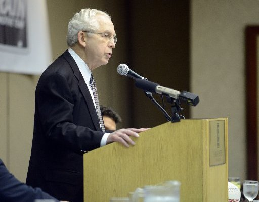 SEC commissioner Mike Slive was the guest speaker at the Little Rock Touchdown Club on Monday.