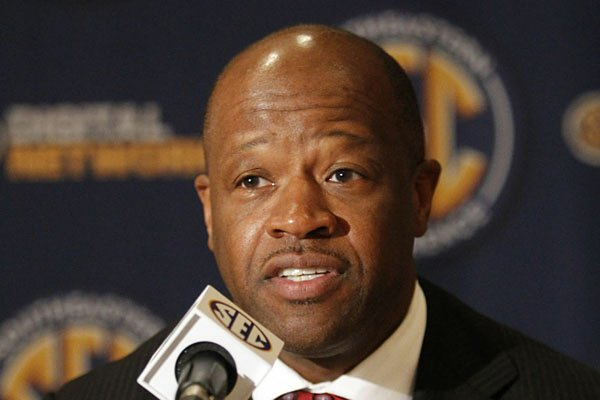 Missouri Coach Frank Haith can thank Arkansas Coach Mike Anderson (pictured) for bringing Phil Pressey, the SEC's preseason player of the year, to Missouri.
