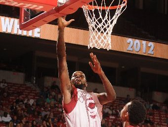 NWA Media/ANTHONY REYES -- The University of Arkansas' white team's Marshawn Powell (33) takes a shot against the red team during the first half of a scrimmage Tuesday, Oct. 30, 2012 at Bud Walton Arena in Fayetteville.