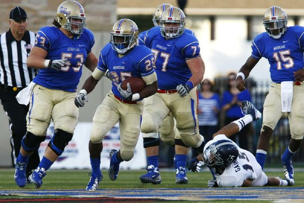 Tulsa's rushing offense ranks ninth nationally with an average of 248.8 yards a game, led by Ja'Terian Douglas (25). Douglas has 702 yards and has three 100-yard games this season.