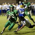 Raymond Douglass of Greenland carries the ball against Mountain View on Oct. 5 at Greenland.