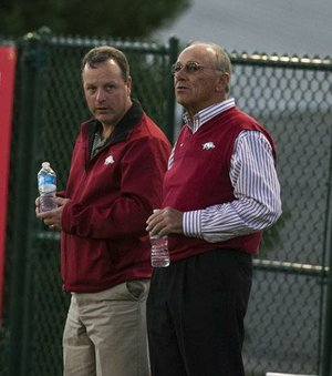 Receiver Brandon Mitchell isn't part of Arkansas' game plan for Saturday's game against Tulsa, Coach John L Smith (right) said.