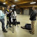 Delatorre, from left, McCall and Presas interview Jennifer Price, Washington County election coordin...