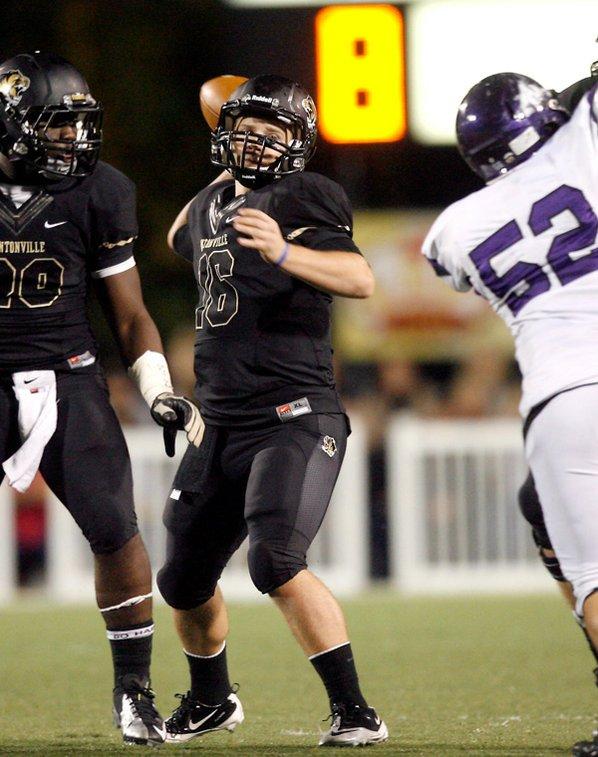 Reese Dollins, Bentonville senior quarterback, ...