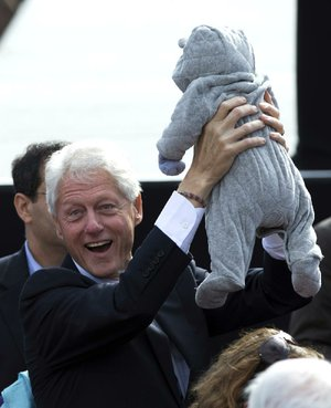 Former President Bill Clinton campaigns for President Barack Obama on Sunday in Concord, N.H.