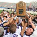 Fayetteville celebrates its 2011 Class 7A state championship win.