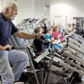 Don Thompson of Rogers exercises Thursday in the fitness center inside the Rogers Adult Wellness Cen...