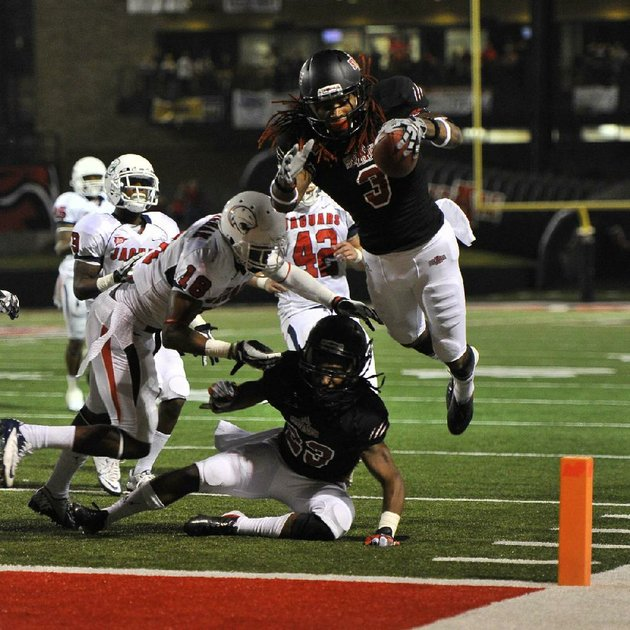 arkansas-state-receiver-josh-jarboe-3-dives-into-the-end-zone-scoring-a-15-yard-third-quarter-touchdown-against-south-alabama-saturday-night-at-liberty-bank-stadium-in-jonesboro-arkansas-state-won-36-29-jarboe-was-selected-to-play-in-the-raycom-college-football-all-star-classic-next-month-special-to-the-arkansas-democrat-gazettejimmy-jones