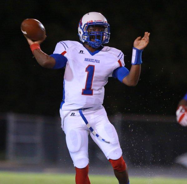 Arkadelphia junior quarterback Jakahari Howell, ...