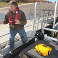 De Mille continues lessons on the Benton County Sheriff's Office's new sonar equipment.