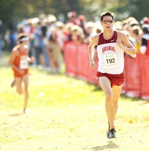 Arkansas senior Eric Fernandez finished eighth in the NCAA South Central Regional on Friday in 30 minutes, 19.8 seconds to help the Razorbacks advance to the NCAA Championships.