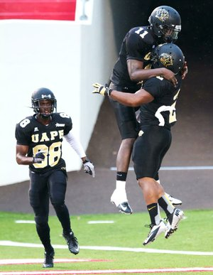 UAPB quarterback Benjamin Anderson (11) and the Golden Lions travel to Grambling State today for a 2 p.m. game.