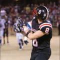 Daniel Beard of Pea Ridge eyes a catch Friday on a more than 50-yard throw for a touchdown during th...