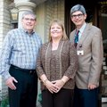 Hosts Jon and Joanie Dyer, from left, with Dr. Stan Bradley, medical director of Washington Regional...