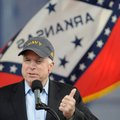 Sen. John McCain addresses a crowd of hundreds Saturday about the importance of veterans during a Ve...
