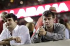 Alabama fans react after a loss to Texas A&M during the second half of an NCAA college football game at Bryant-Denny Stadium in Tuscaloosa, Ala., Saturday, Nov. 10, 2012. Texas A&M won 29-24. (AP Photo/Dave Martin)