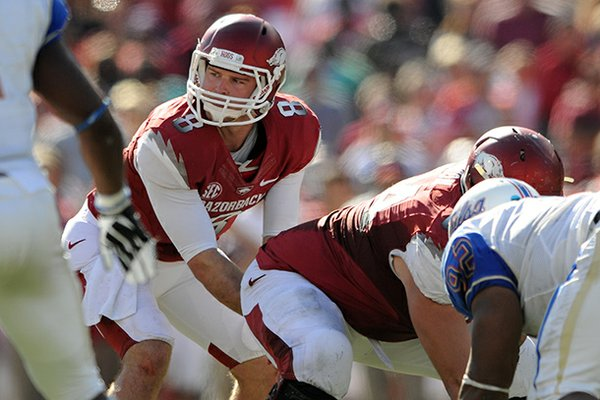 Tyler Wilson was one of six Arkansas players invited to the 2013 NFL combine.