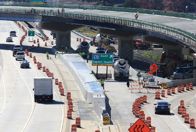 arkansas-democrat-gazettestaton-breidenthal-111312-workers-continue-the-construction-tuesday-morning-at-the-interstate-430interstate-630-interchange-motorist-will-face-periodic-lane-closures-at-the-site-between-9-am-and-3-pm-through-friday