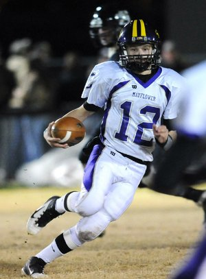 Mayflower quarterback Adam Dycus threw for 436 yards in last week's Class 3A first-round playoff victory at Yellville-Summit, giving him 3,884 yards this season. Only Pulaski Academy's Lawson Vassar (4,242) has more.
