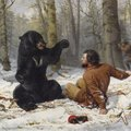 The Life of a Hunter: A Tight Fix by Arthur Fitzwilliam Tait, which is owned by the Crystal Bridges ...