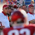 Arkansas Democrat-Gazette/STEPHEN B. THORNTON -- Arkansas coach John L. Smith, left, and offensive c...