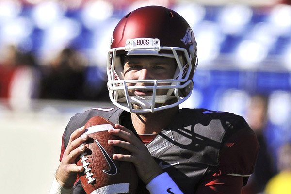 Arkansas quarterback Tyler Wilson could be one of the top three quarterbacks taken in the 2013 NFL Draft.