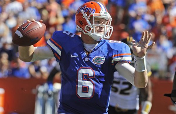 Jeff Driskel, pictured in a Nov. 3, 2012 game against Missouri, will not play Saturday against Jacksonville State.