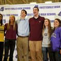 Several Fayetteville High athletes signed letters of intent Wednesday to play their respective sport...