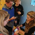 Mackenzie Harrell, from left, Collin Adams, Jared Dickey and Maddi McKinney, Kirksey Middle School s...