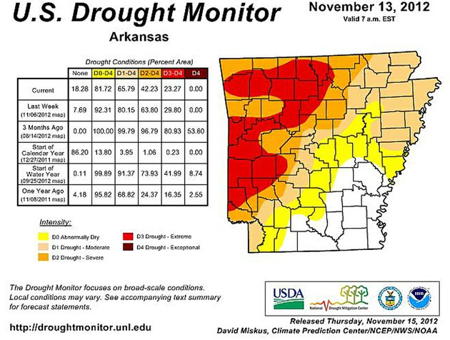the-weekly-us-drought-monitor-reflects-conditions-in-arkansas-through-tuesday-nov-13-2012