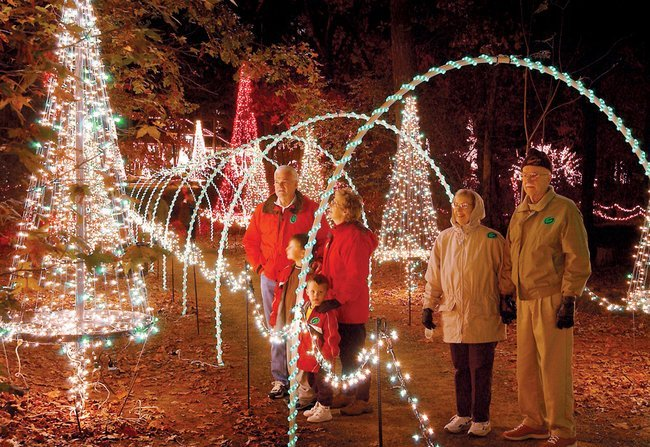 visitors to garvan woodland gardens during the holiday season can see more than 2 million lights illuminating 17 acres of landscaped grounds featuring - Garvan Gardens Christmas Lights