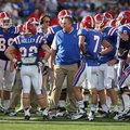 In this Nov. 3, 2012 photo, Louisiana Tech head football coach Sonny Dykes talks with his team durin...