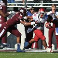 Arkansas Democrat-Gazette/RICK MCFARLAND --11/17/12-- Arkansas's Dennis Johnson (33) can't escape th...