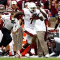 NWA Media/JASON IVESTER -- Arkansas running back Knile Davis breaks free down the Texas A&M sideline...
