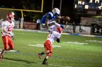 North Little Rock running back Altee Tenpenny goes airborne against Cabot. Courtesy of Jay Sterling