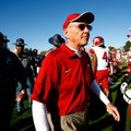Arkansas Coach John L. Smith got a bit emotional during Monday's news conference in Fayetteville, re...