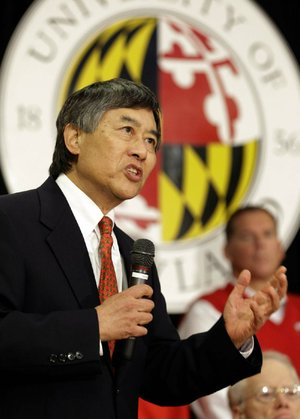 University of Maryland President Wallace Loh speaks at a news conference Monday in College Park, Md., announcing Maryland's decision to move to the Big Ten.