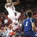 Arkansas guard BJ Young, making his season debut, scored 23 points Sunday in a 112-63 victory over L...