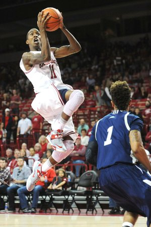 Arkansas guard BJ Young, making his season debut, scored 23 points Sunday in a 112-63 victory over Longwood at Walton Arena in Fayetteville.