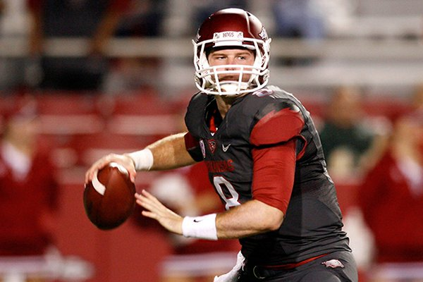 Former Arkansas quarterback Tyler Wilson was drafted by the Oakland Raiders in the fourth round Saturday.