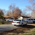The scene of a homicide investigation Tuesday morning in Bentonville.
